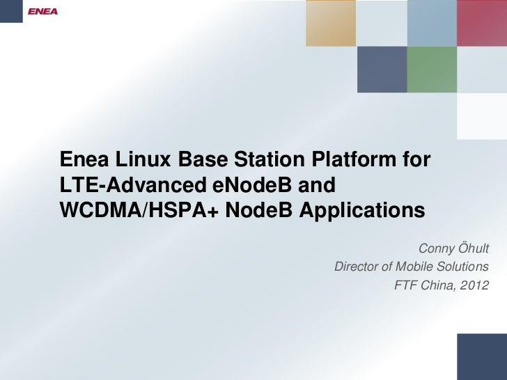 Enea Linux Base Station Platform FTF China