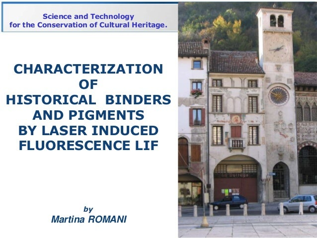 Science and Technologyfor the Conservation of Cultural Heritage. CHARACTERIZATION         OFHISTORICAL BINDERS    AND PIGM...