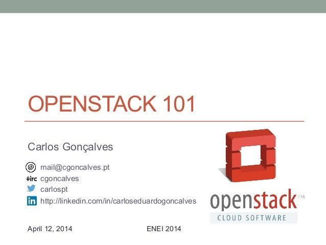 OpenStack 101 @ ENEI 2014