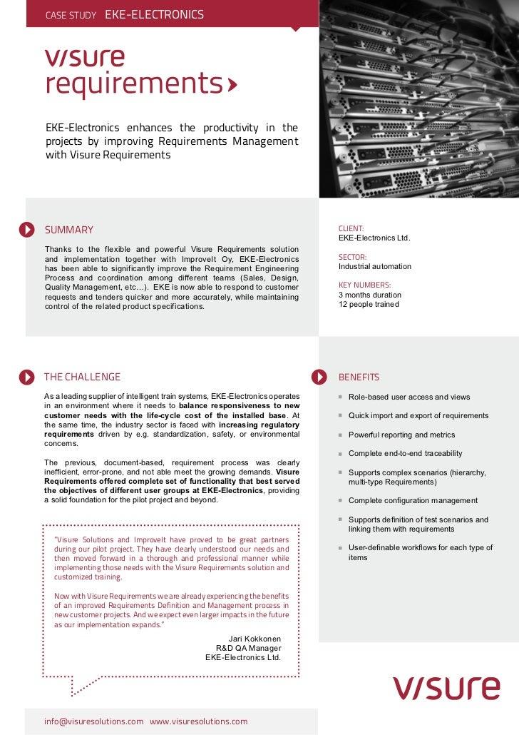 EKE electronics Case Story - Visure Solutions