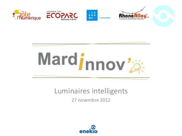 Luminaires intelligents     27 novembre 2012