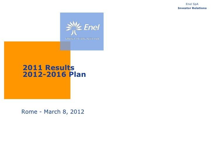 2011 Results 2012-2016 Plan