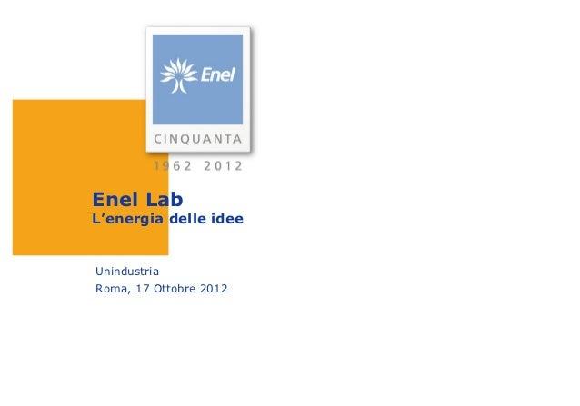 Enel Lab: opportunità d'impresa nella green economy