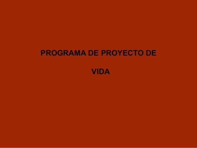 PROGRAMA DE PROYECTO DEVIDA