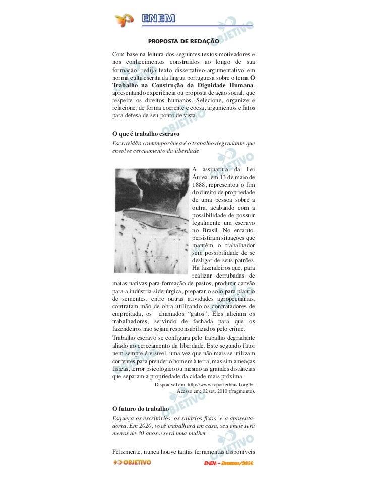 Enem2010 2dia redação e questões 91 a 95