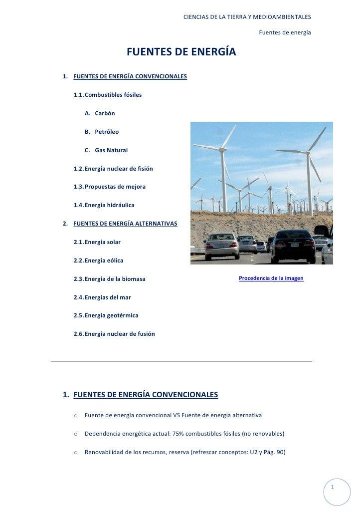 CIENCIAS DE LA TIERRA Y MEDIOAMBIENTALES                                                                       Fuentes de ...