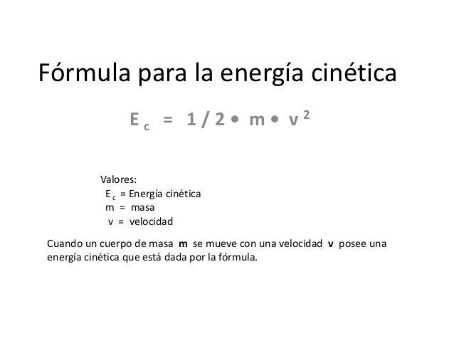 Energia Cinetica Formula f Rmula Para la Energ a