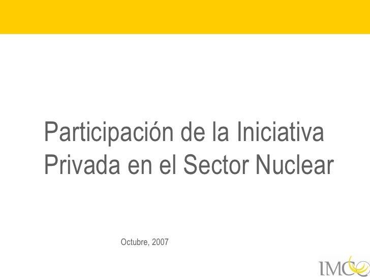 Factores de Producción: Energía nuclear (2008)