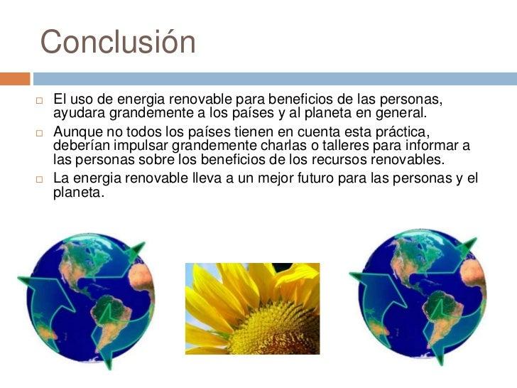 Resultado de imagen para energía renovables conclusiones