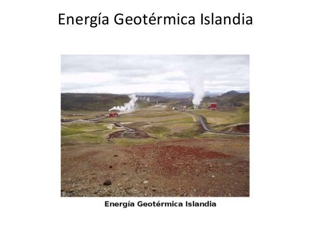 Energía Geotérmica Islandia