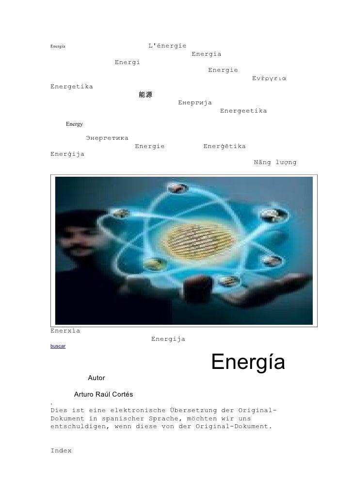 Energía                             L'énergie                                                 Energia                     ...