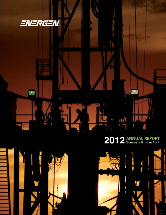 Energen 2012 Annual Report,  Photography by Billy Brown