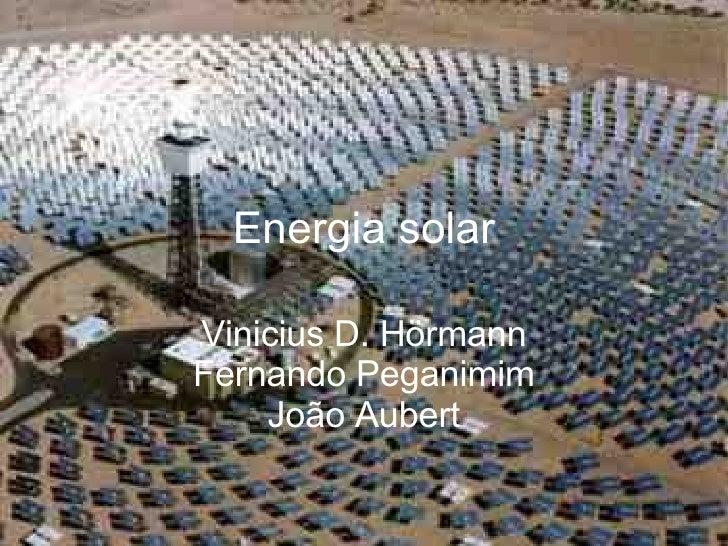 Energia Solar Powerpoint