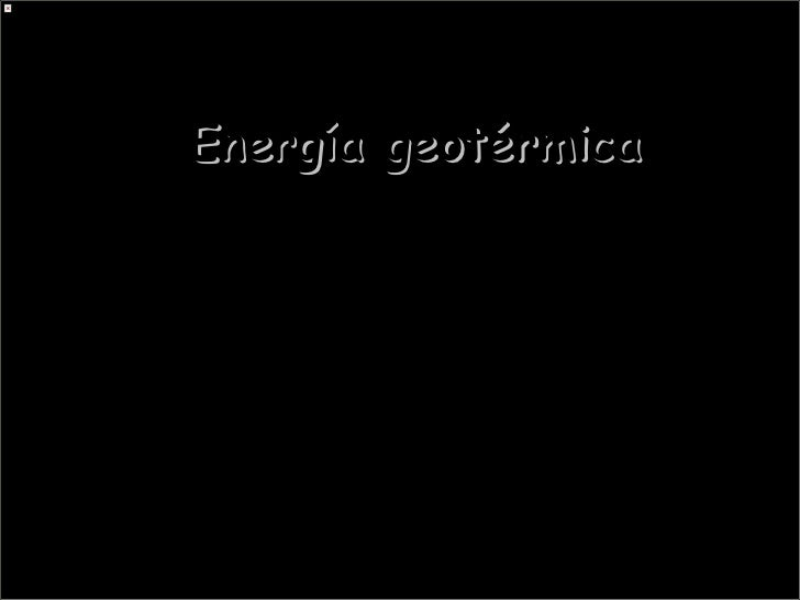 Energia geotérmica 1