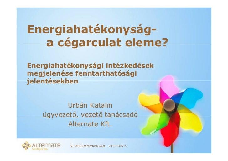 Energiahatekonysag jelentesekben-urban-katalin