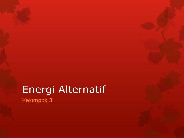 Energi Alternatif Angin 'fisika kls-8'