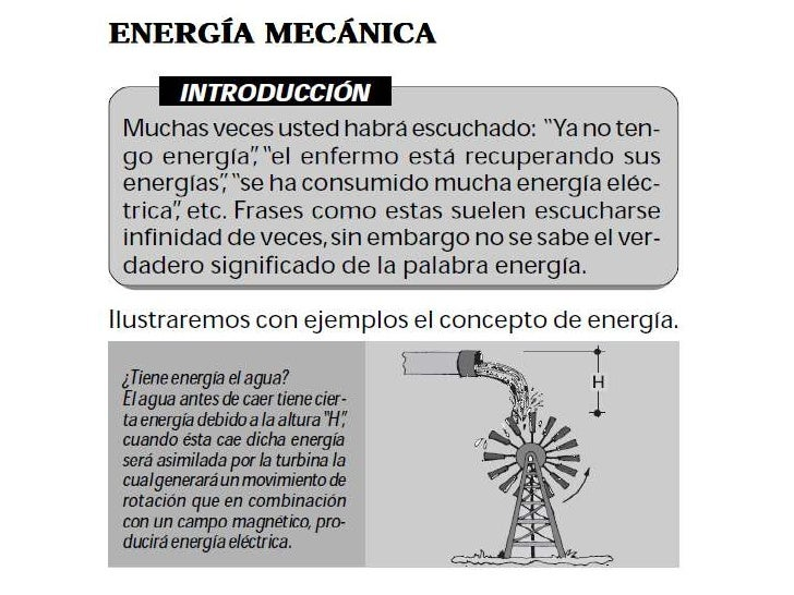 Energia Mecánica