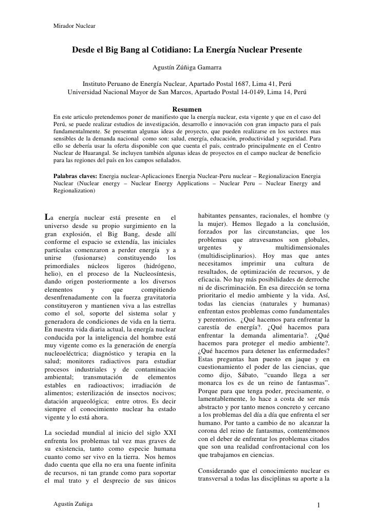 Mirador Nuclear             Desde el Big Bang al Cotidiano: La Energía Nuclear Presente                                   ...