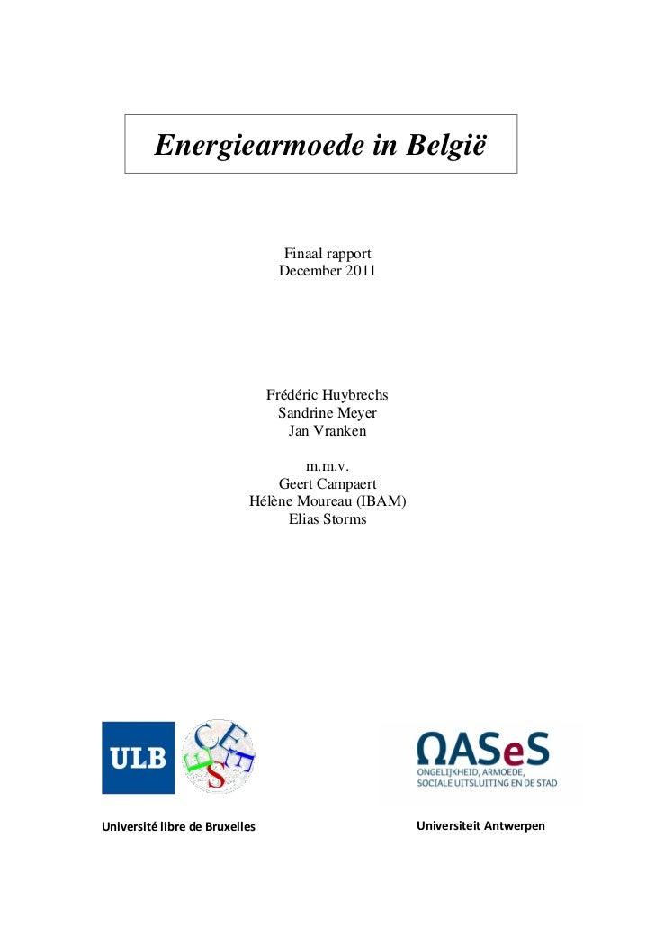 Energiearmoede in belgie