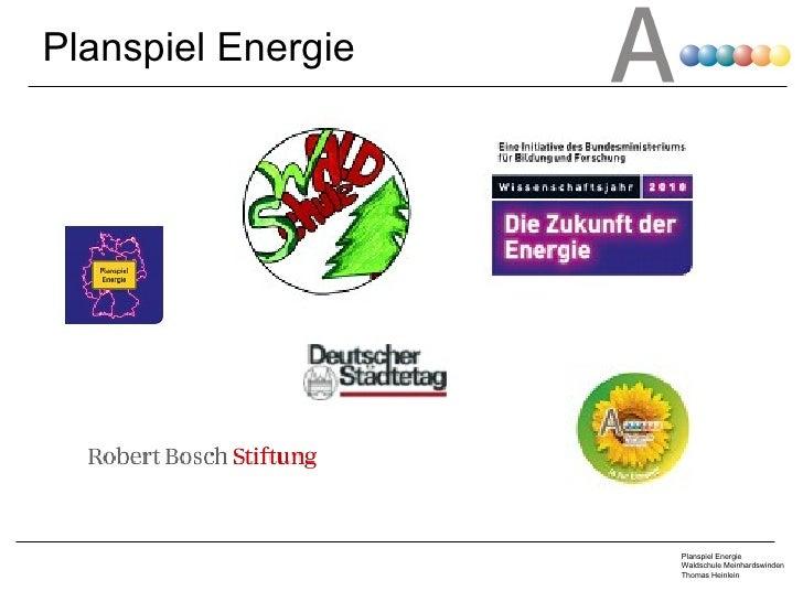 Planspiel Energie