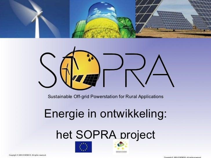 Energie in ontwikkeling SOPRA-project