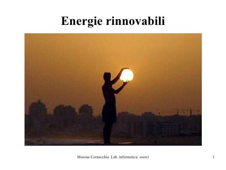 Energie Rinnovabili Morena