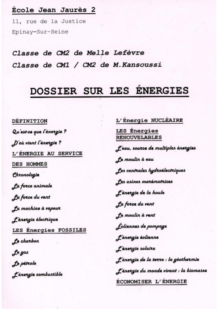Energies jaures2 2011