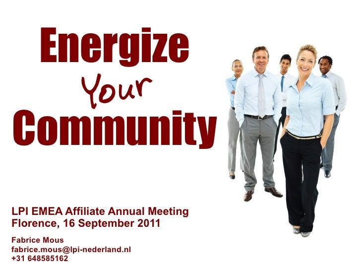 Energize your Community