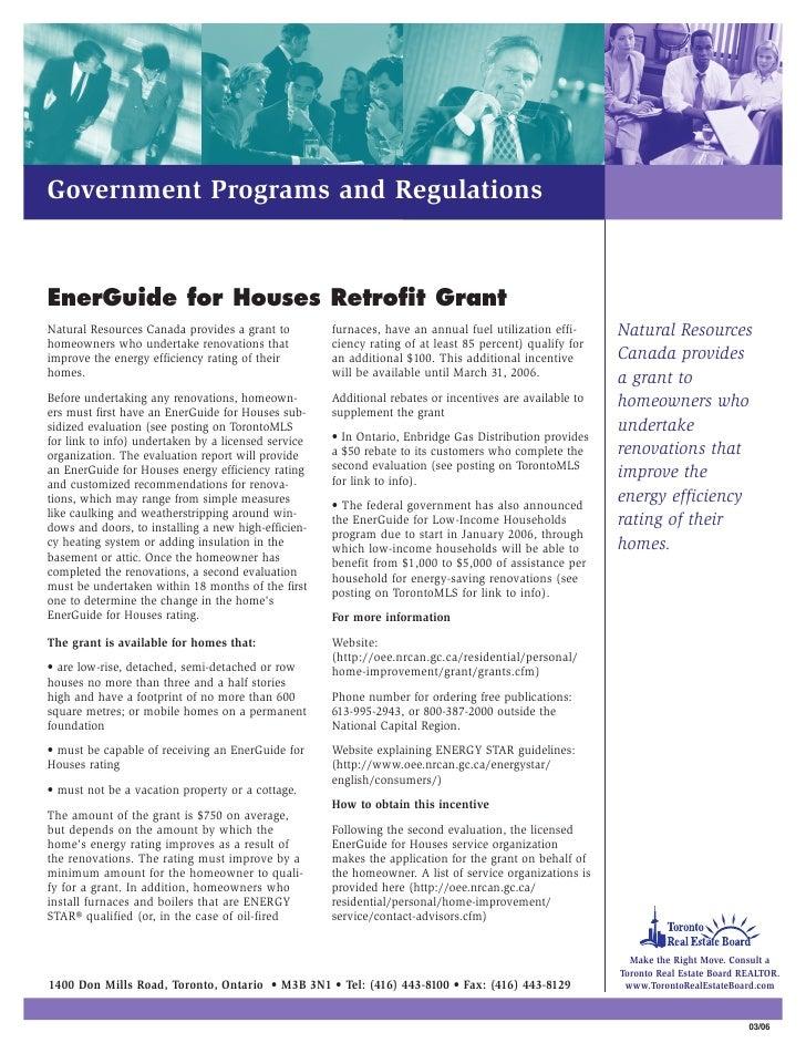 Canada's Energuide For House Retrofit Grant
