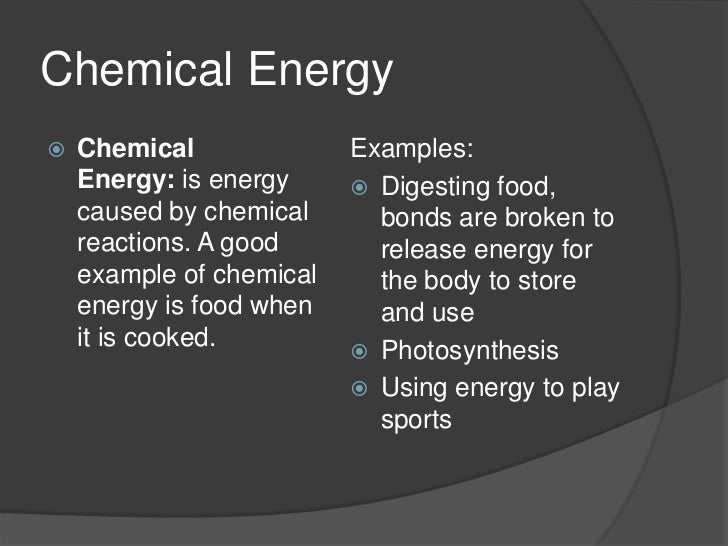 Chemical Energy Exampl...