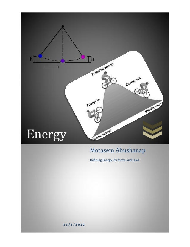 Energy                 Motasem Abushanap                 Defining Energy, its forms and Laws     11/2/2012