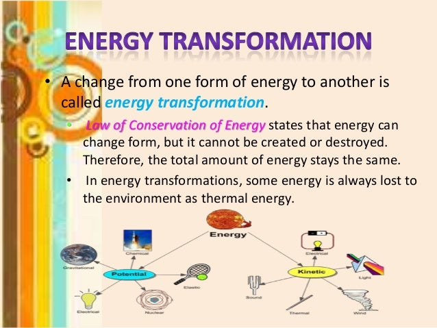 Gallery For u0026gt; Energy Transformation Examples For Middle School
