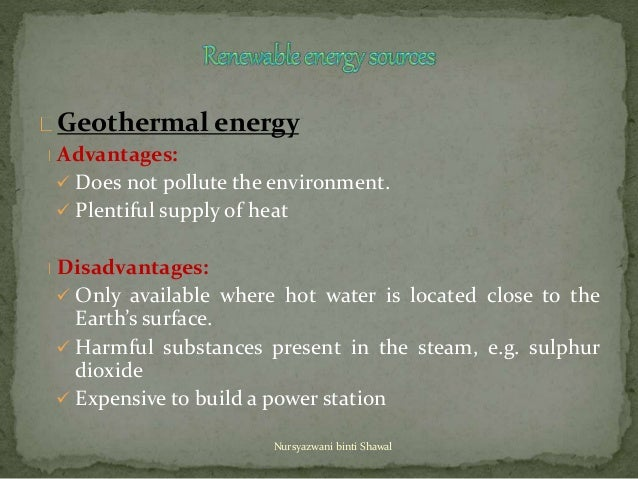 Science Form 1 Chapter 6 Sources Of Energy
