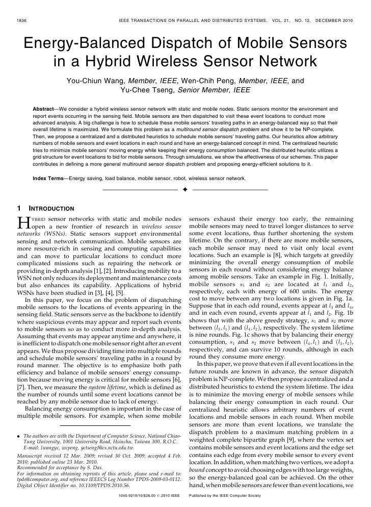 1836                                           IEEE TRANSACTIONS ON PARALLEL AND DISTRIBUTED SYSTEMS,                     ...