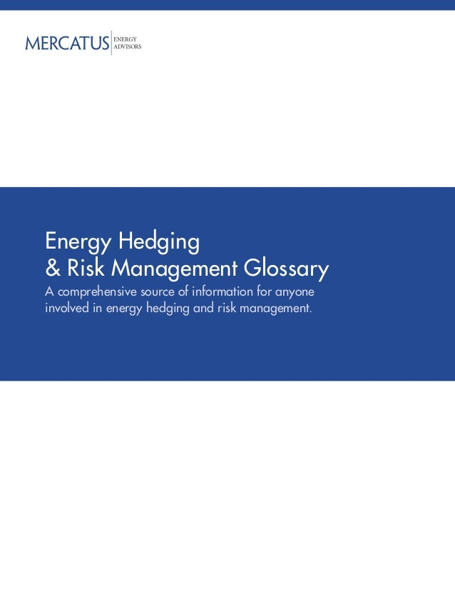 Energy Hedging& Risk Management GlossaryA comprehensive source of information for anyoneinvolved in energy hedging and ris...