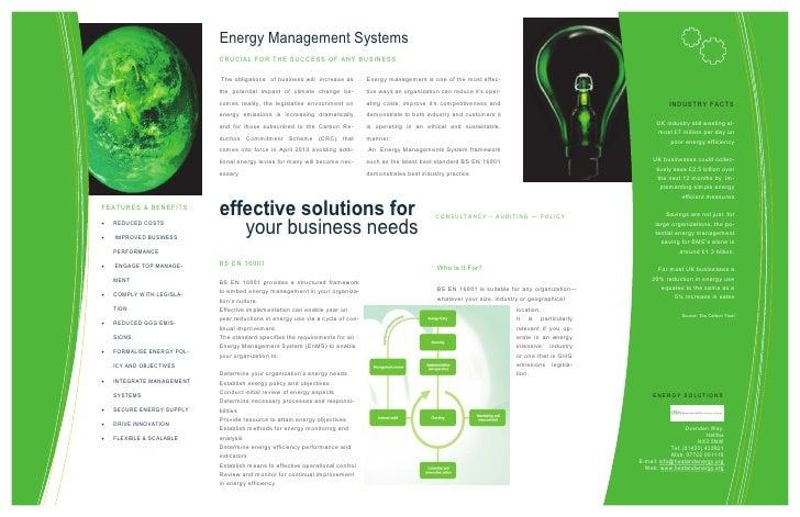 Energy Management Systems                               C R UC I AL F OR T H E SU C C ESS OF AN Y BU SIN ESS              ...
