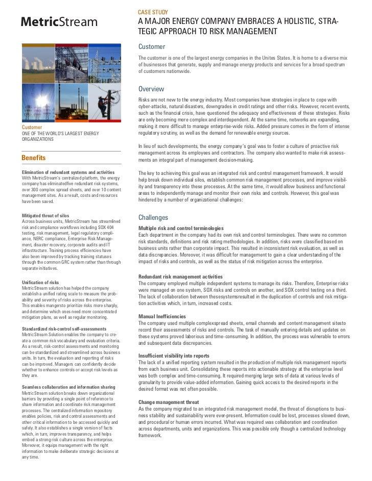 Energy Risk Management
