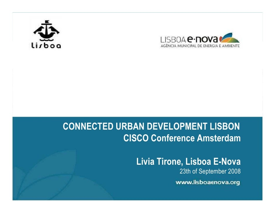 Livia Tirone - Smart Energy in Public Buildings in Lisbon: An Integrated Approach