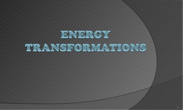 Energy transformations (1)