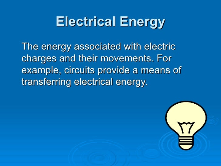 Electricity Is Stored In
