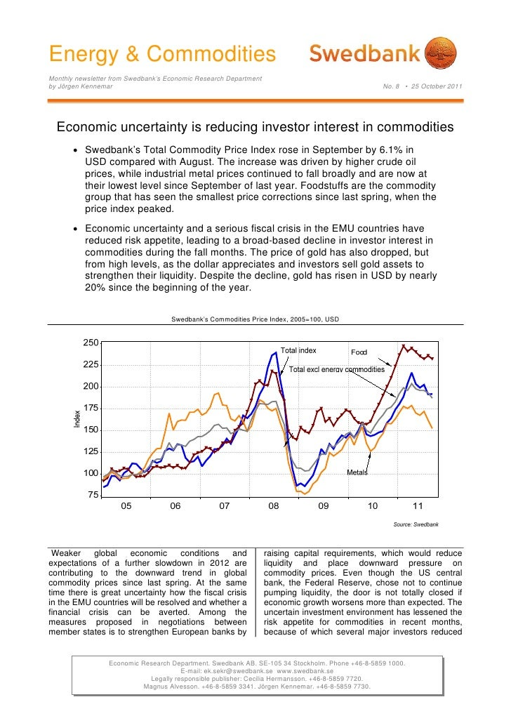 Energy & Commodities, No.8 - October 25, 2011