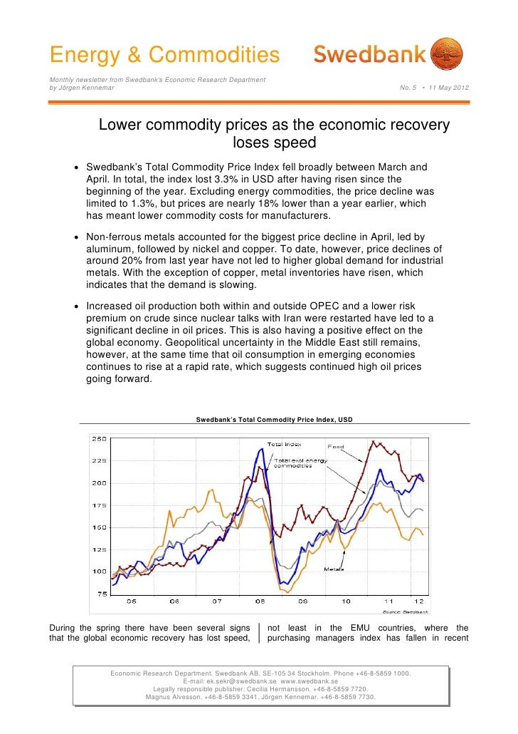 Energy & Commodities, No. 5 - May 11, 2012