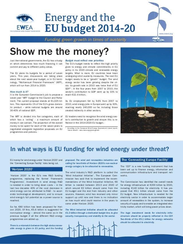 Energy and the EU budget 2014-2020