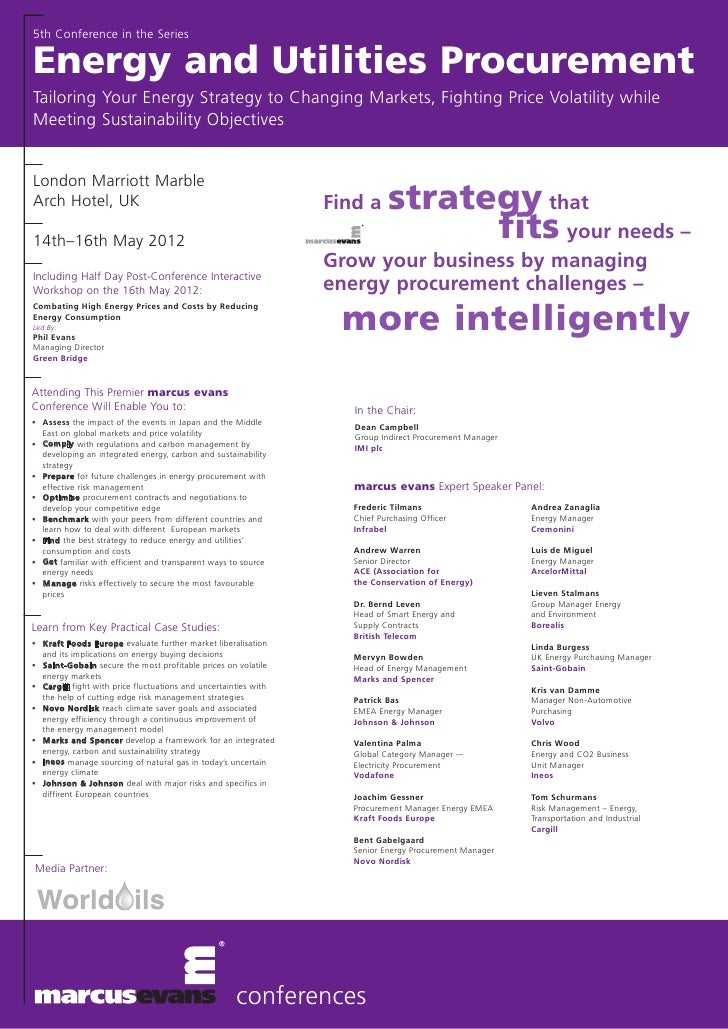 Energy and utilities procurement conference may 2012