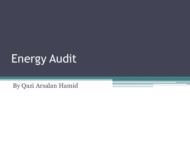 Energy audit by Qazi Arsalan Hamid-Dy Manager Technical KESC