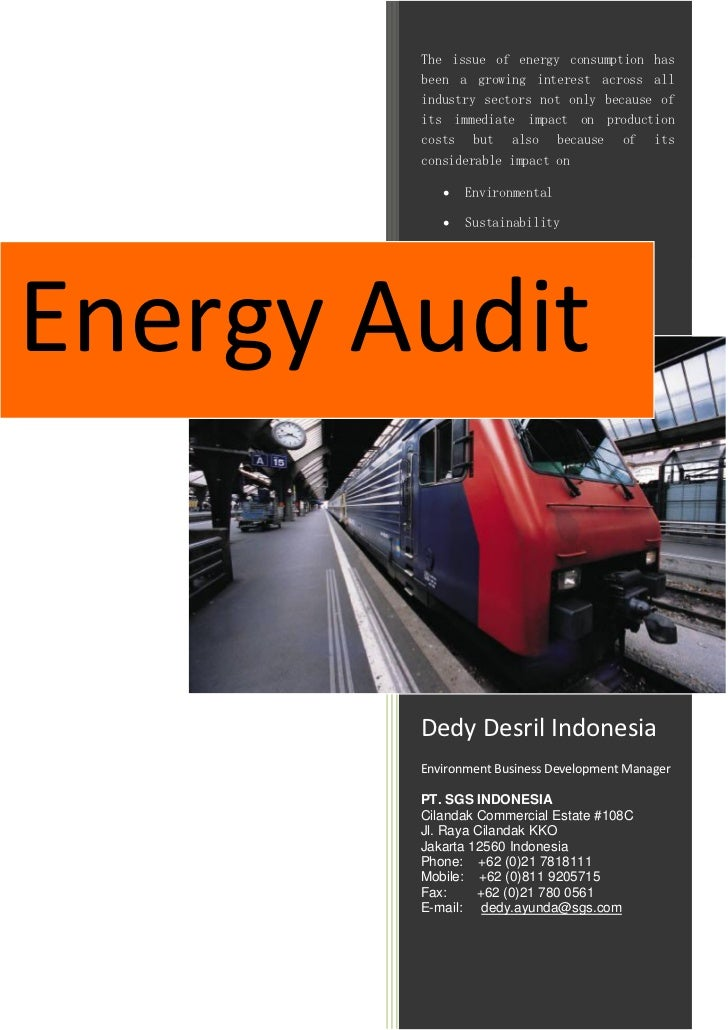 Energy Audit SGS Indonesia