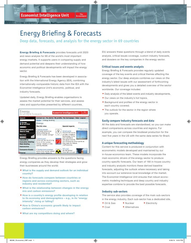 Energy Briefing & Forecasts          Deep data, forecasts, and analysis for the energy sector in 69 countries          Ene...
