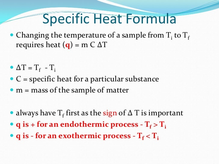 How to solve specific heat problems