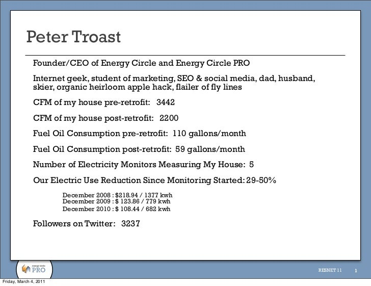 Peter Troast              Founder/CEO of Energy Circle and Energy Circle PRO              Internet geek, student of market...