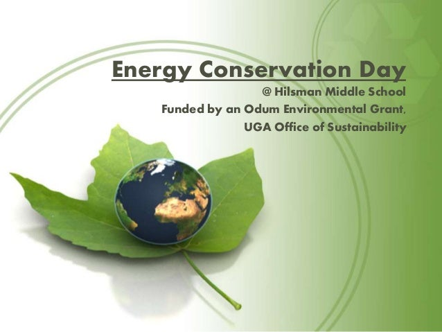 Essay On Energy Conservation